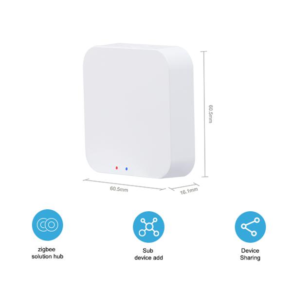 Thiết bị trung tâm Tuya Smart Hub Zigbee hỗ trợ Google Home và Alexa